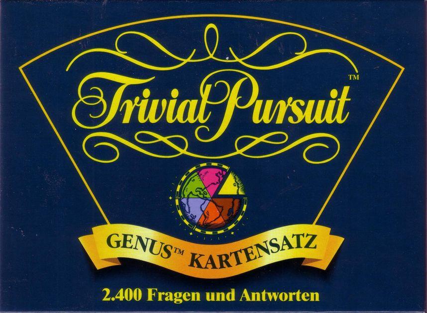 Trivial Pursuit Genus Kartensatz 2400 Fragen Und Antworten