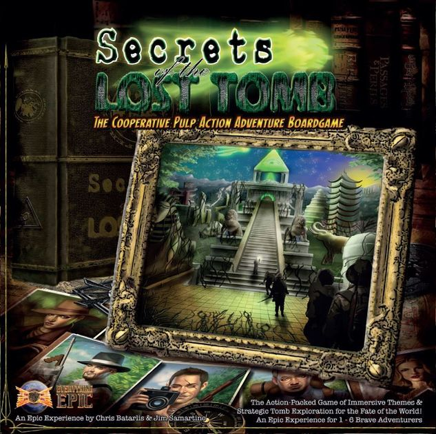 Secrets Of The Lost Tomb Board Game Fates Fortune Expansion