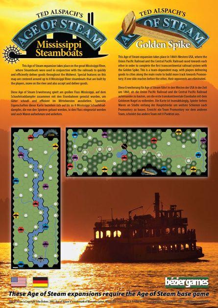 Steam Karte 20.Age Of Steam Expansion Mississippi Steamboats Golden Spike