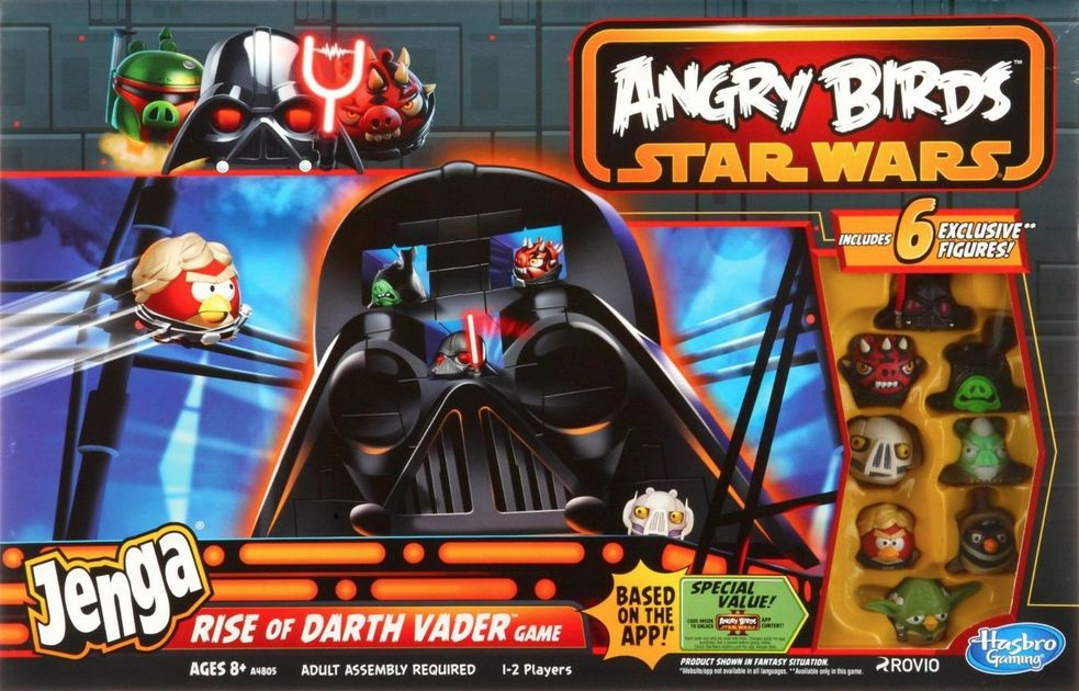 Angry Birds Star Wars Jenga Rise Of Darth Vader Game Board Game Boardgamegeek