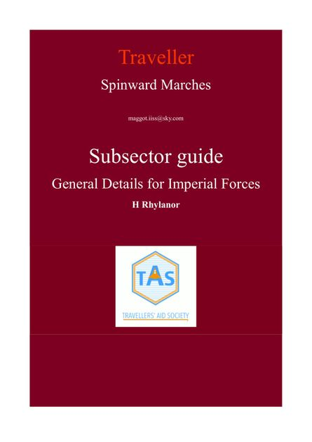 Spinward Marches Subsector Guide General Details for Imperial Forces