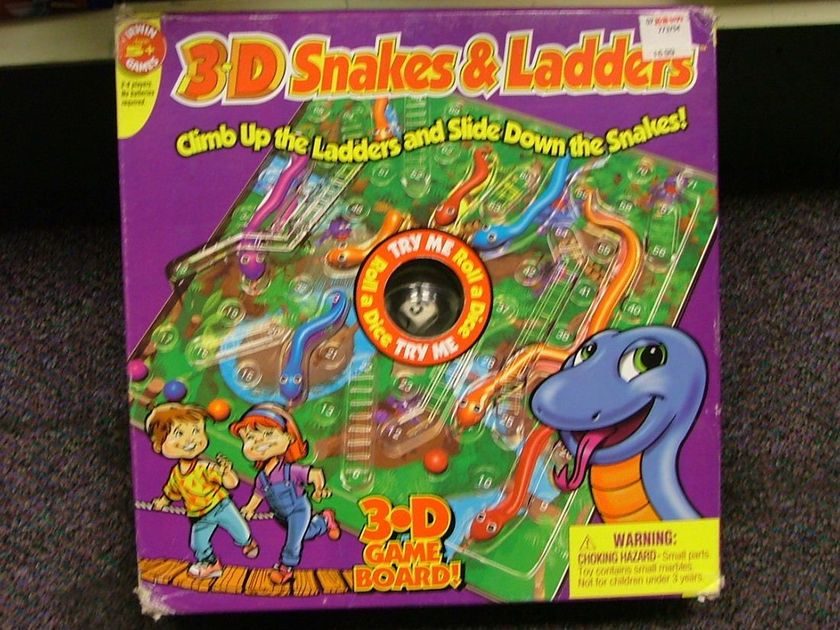 3d Action Snakes And Ladders Board Game Boardgamegeek