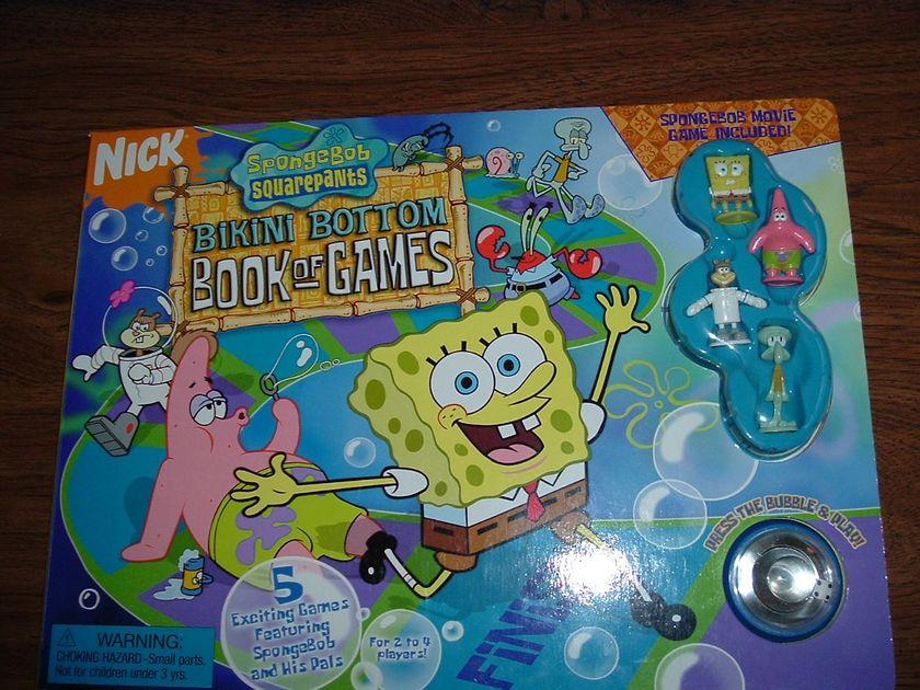 Spongebob Squarepants Bikini Bottom Book of Games | Board