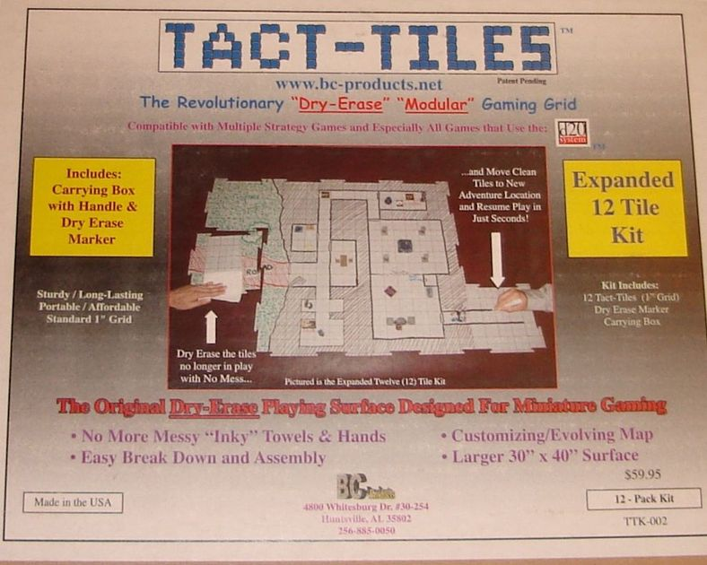 Tact Tiles Expanded 12 Tile Kit Boardgeek