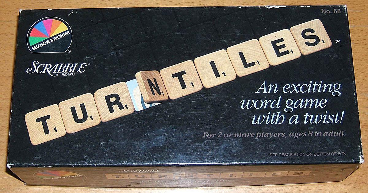 Scrabble Brand Turntiles   Board Game   BoardGameGeek