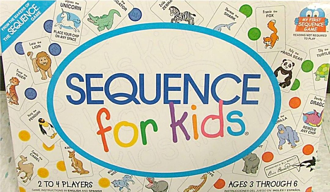 Sequence For Kids Board Game Boardgamegeek