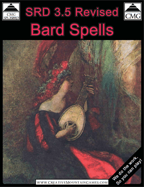 SRD 3 5 Revised: Bard Spells | RPG Item | BoardGameGeek