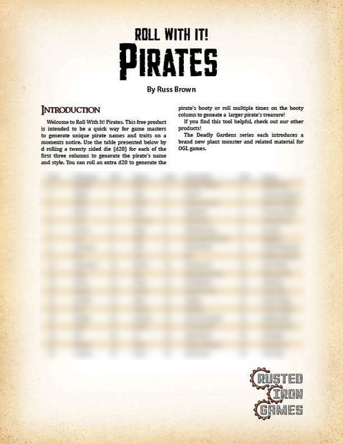 Roll With It! Pirates   RPG Item   RPGGeek