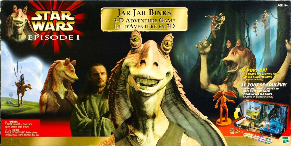 star wars episode i jar jar binks 3 d adventure game board game