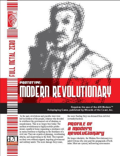 Prototype: Modern Revolutionary | RPG Item | RPGGeek