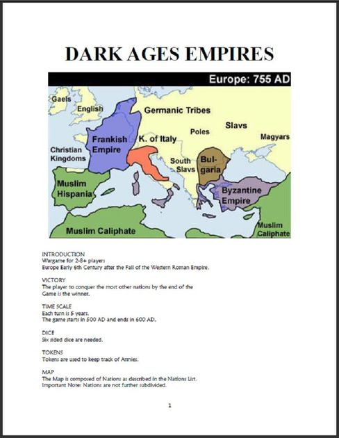 Dark Ages Empires | Board Game | BoardGameGeek