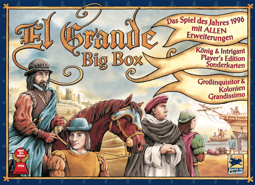 New Game Round-up: El Grande Goes Big, Marco Polo Goes East, Queen Goes for Parfum & Monsters Go Boom