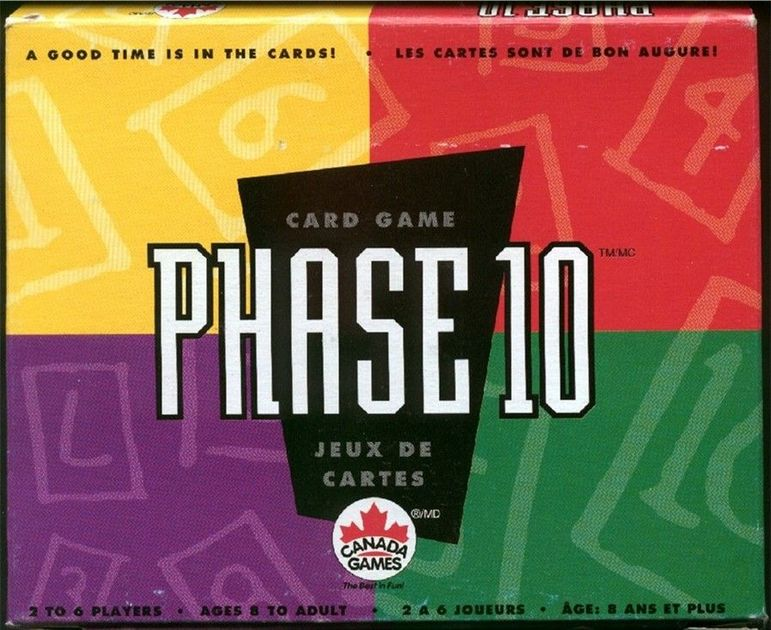 Phase 10 Board Game Boardgamegeek