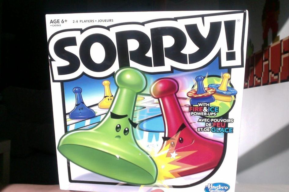 Sorry With Fire Ice Power Ups Board Game Boardgamegeek