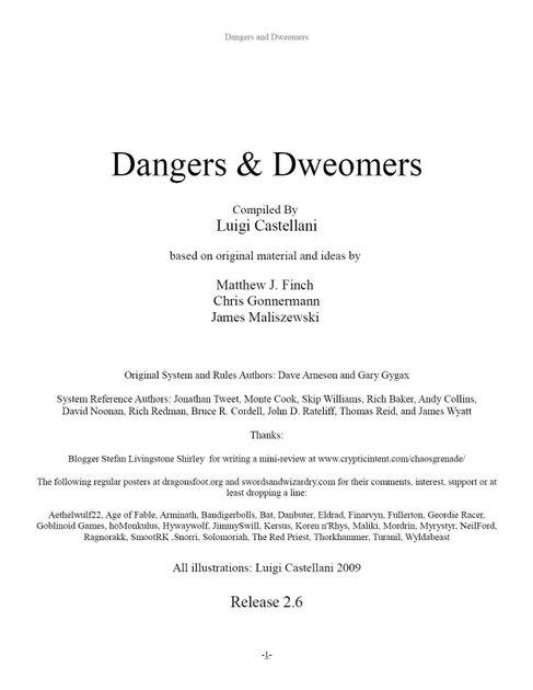 Dangers Dweomers Rpg Item Rpggeek