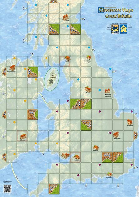 Carcassonne Maps: Great Britain | Board Game | BoardGameGeek