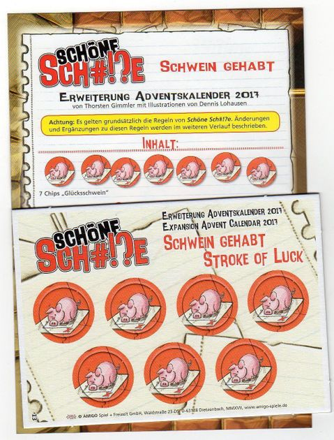 Chip De Weihnachtskalender.Schöne Sch E Stroke Of Luck Board Game Boardgamegeek