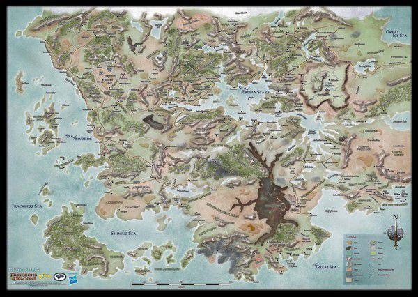 Forgotten Realms World Map Rpg Item Rpggeek