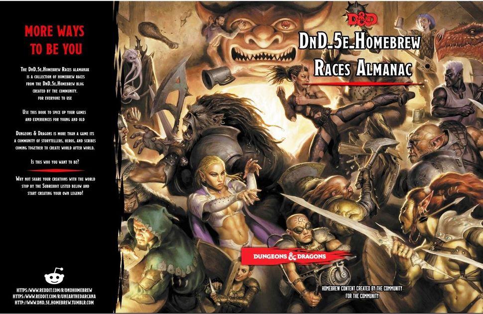 Homebrew Races Almanac   RPG Item   RPGGeek