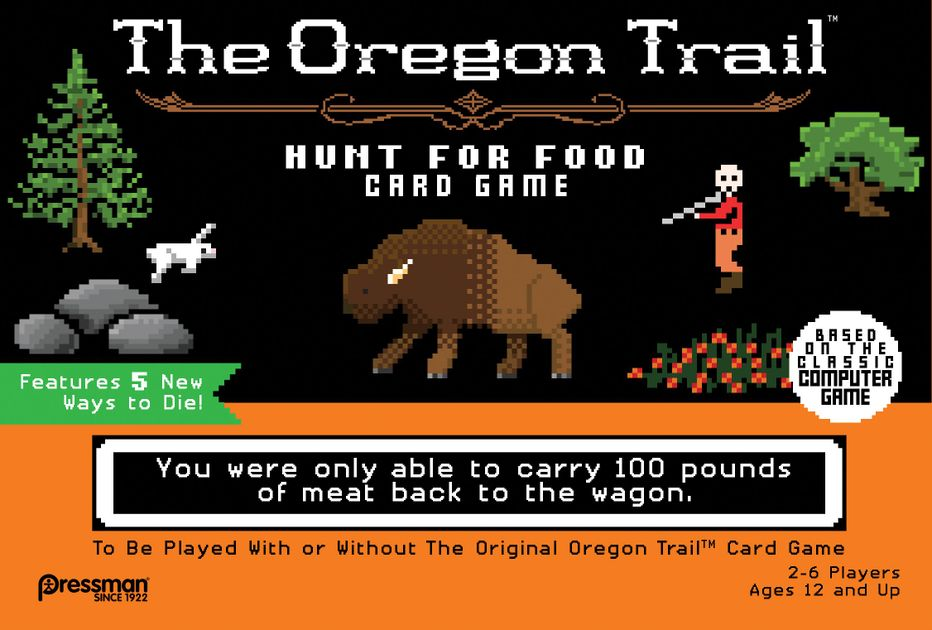 the oregon trail hunt for food card game board game boardgamegeek