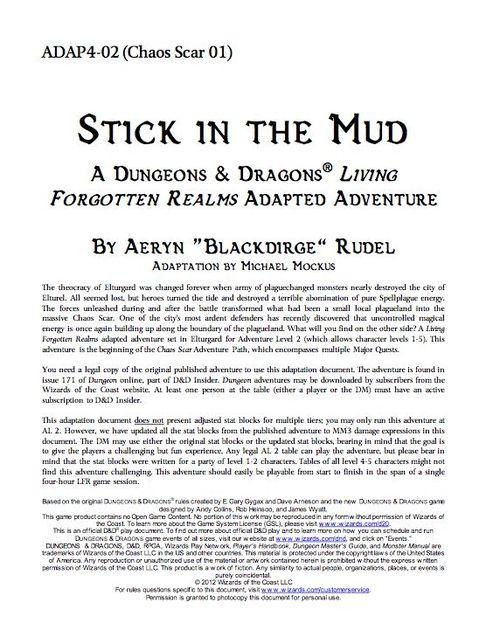 Adap4 2 Stick In The Mud Rpg Item Rpggeek