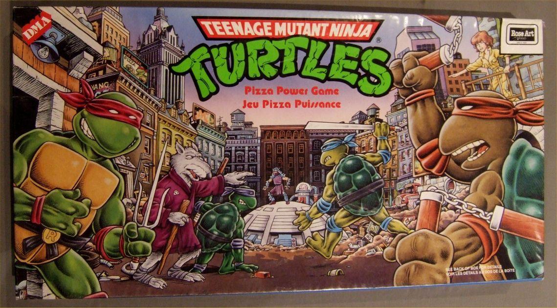 Teenage Mutant Ninja Turtles Pizza Power Game Board Game