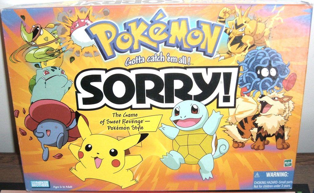 Sorry Pokémon Board Game Boardgamegeek