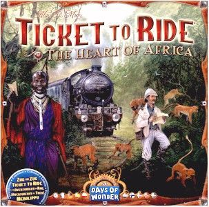 Map Of Africa Games.Ticket To Ride Map Collection Volume 3 The Heart Of Africa