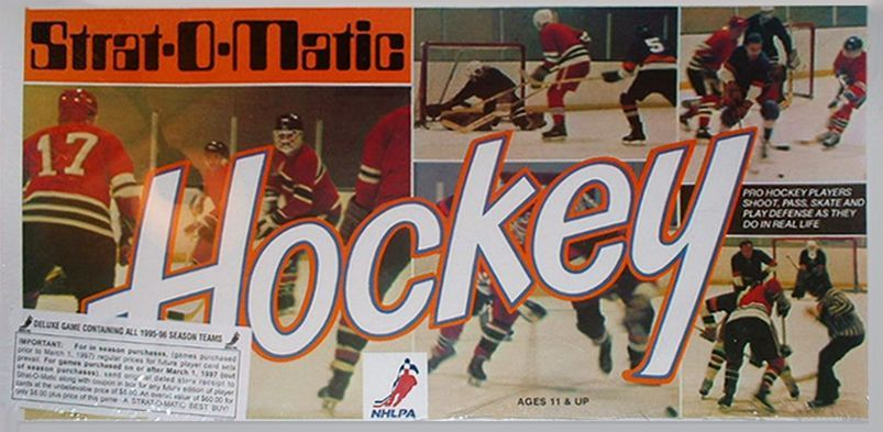Strat O Matic Hockey Board Game Boardgamegeek