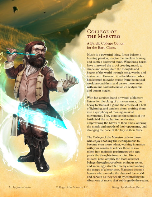 College of the Maestro   RPG Item   RPGGeek