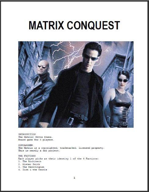 Matrix Conquest   Board Game   BoardGameGeek