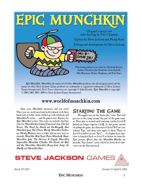 Epic Munchkin Board Game Boardgamegeek