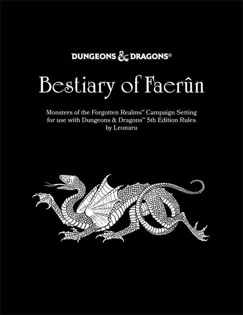 Bestiary of Faerûn: Monsters of the Forgotten Realms | RPG