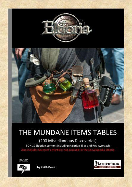 The Mundane Items Tables   RPG Item   RPGGeek