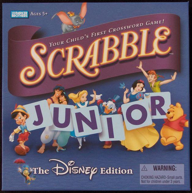 scrabble junior: the disney edition | board game | boardgamegeek