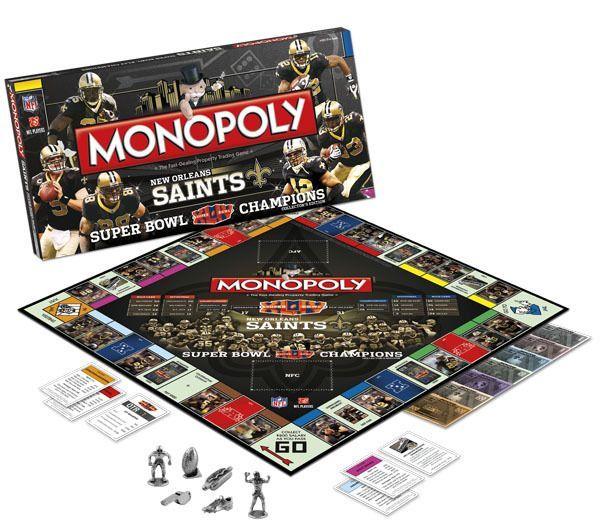 a6728c48 Monopoly: New Orleans Saints Super Bowl XLIV Champions Collector's ...