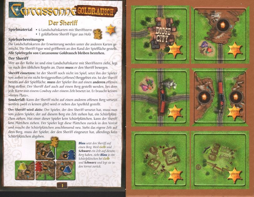 Carcassonne Goldrausch Der Sheriff Board Game Boardgamegeek