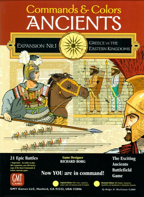 Expansions 2 /& 3 New by GMT Commands /& Colors: Ancients English Edition