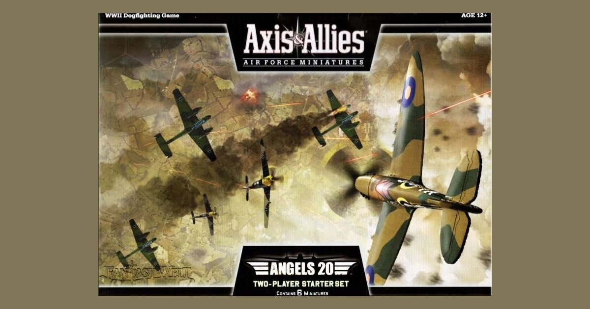 Axis Allies Air Force Miniatures Angels 20 Board Game
