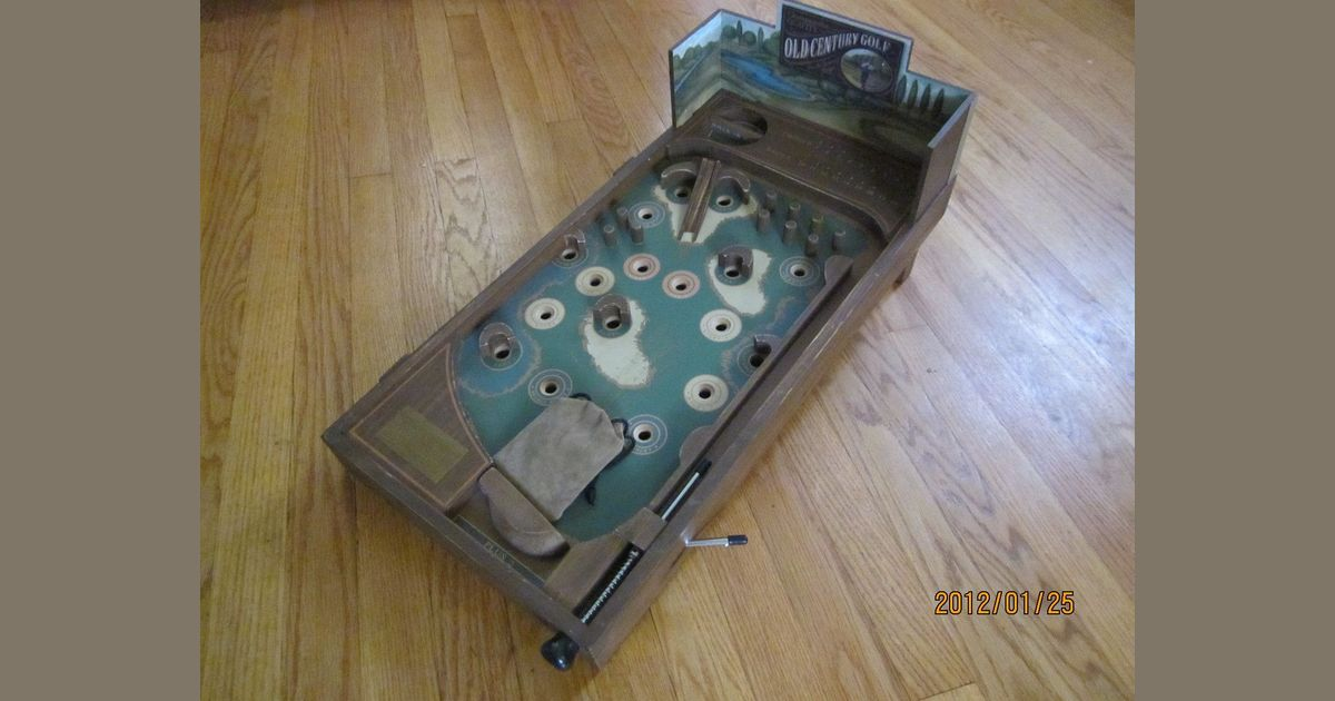 Old Century Pinball Golf | Board Game | BoardGameGeek
