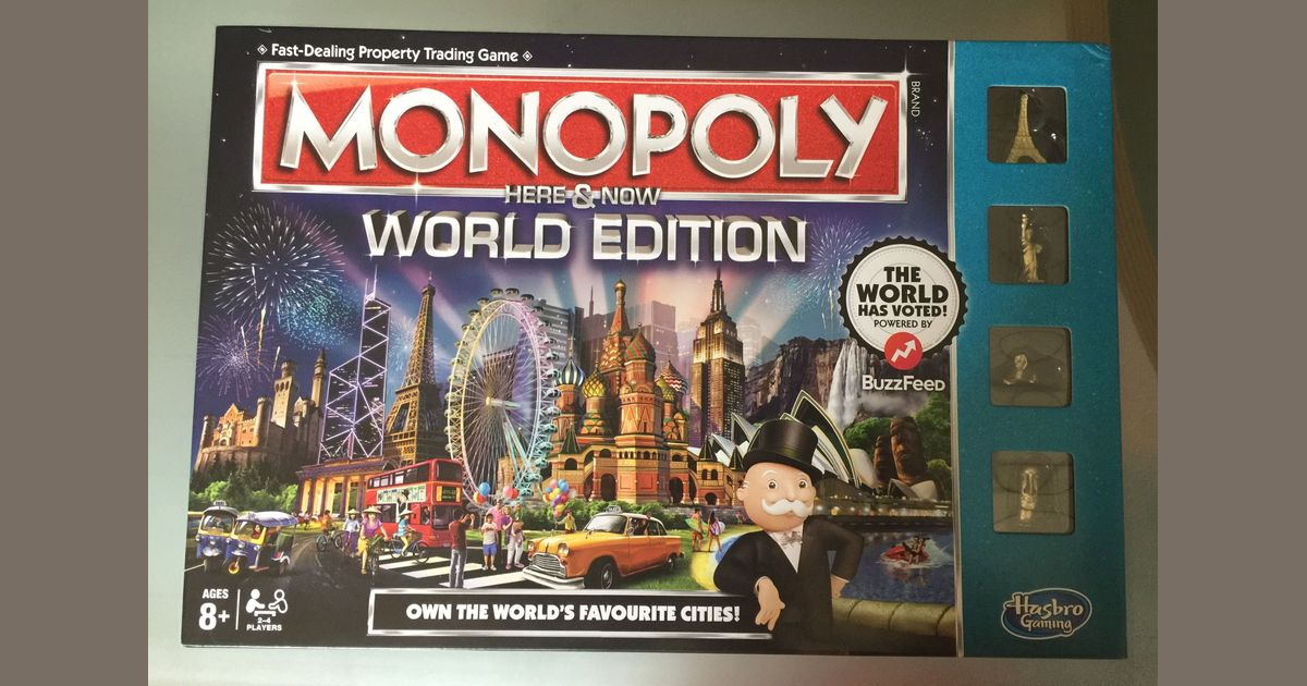 Amazon. Com: monopoly here and now world: toys & games.