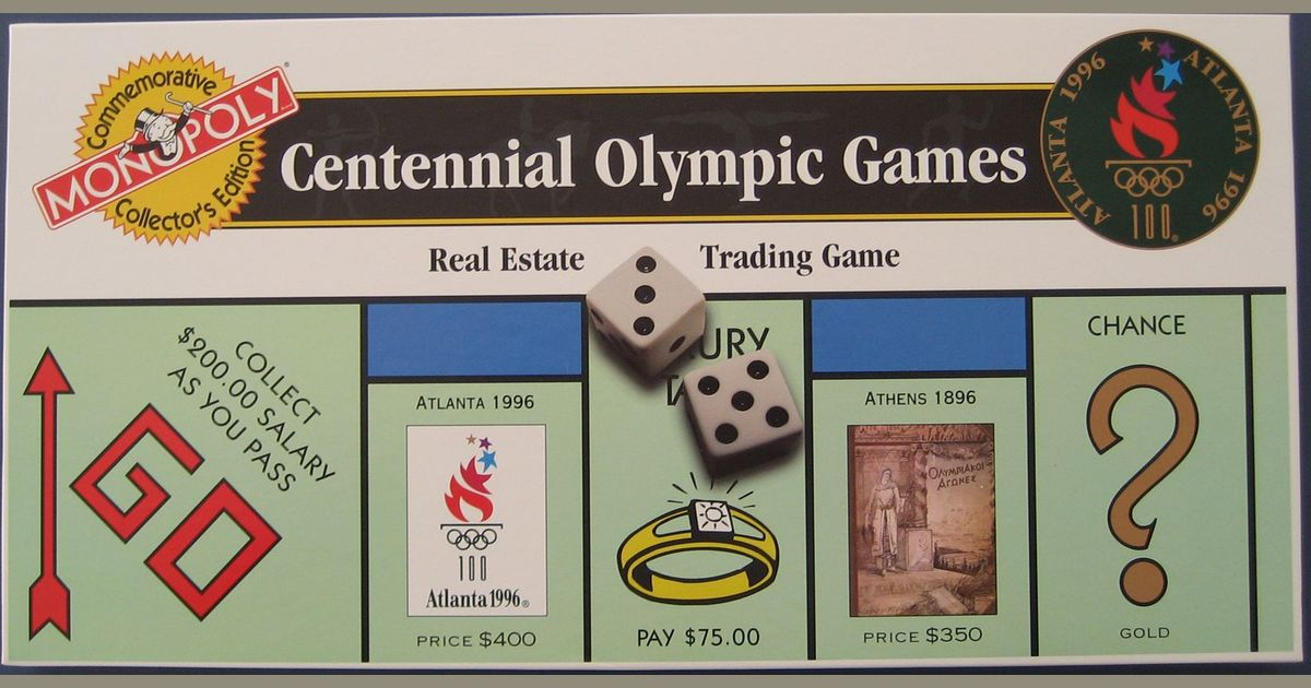 44905e289 Monopoly: Centennial Olympic Games | Board Game | BoardGameGeek