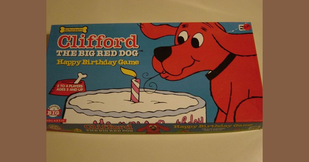 Sensational Clifford The Big Red Dog Happy Birthday Game Board Game Personalised Birthday Cards Petedlily Jamesorg