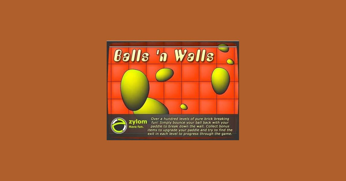 Balls 'n Walls | Video Game | VideoGameGeek