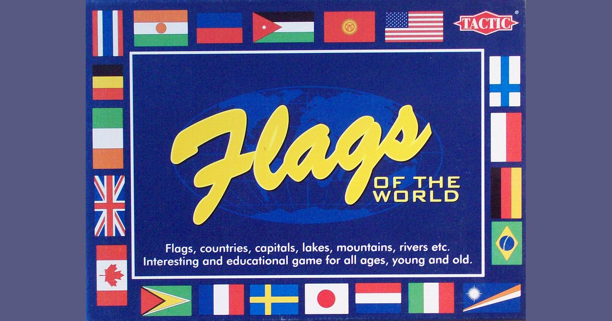 Educational Card Game Tactic Flags of the World
