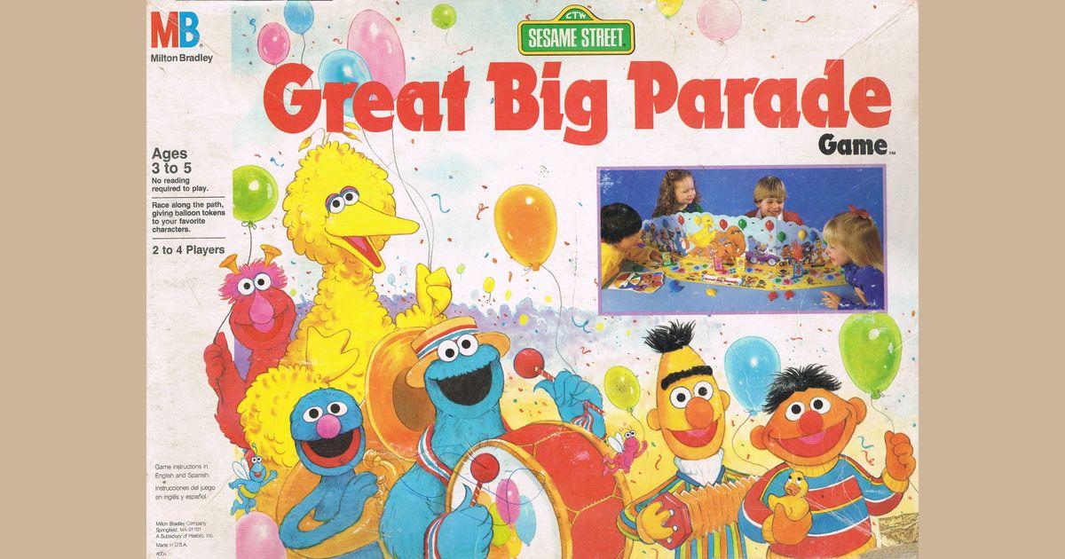 Sesame Street Great Big Parade Game   Board Game   BoardGameGeek