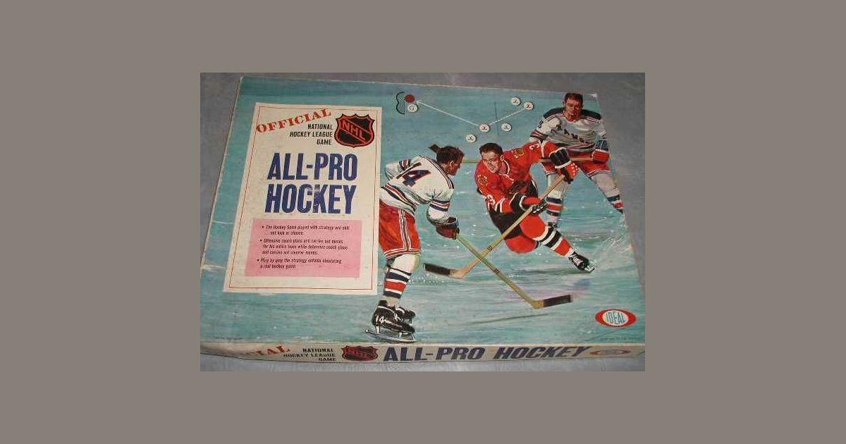 All Pro Hockey Board Game Boardgamegeek
