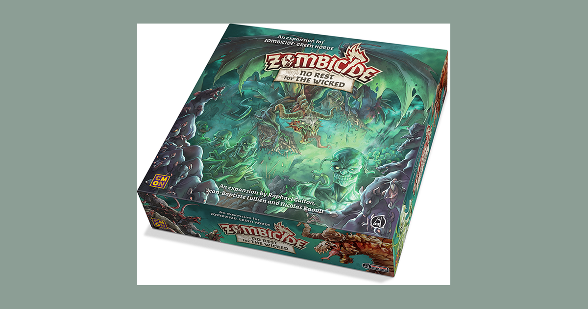 Brand New /& Sealed No Rest For The Wicked Zombicide Green Horde
