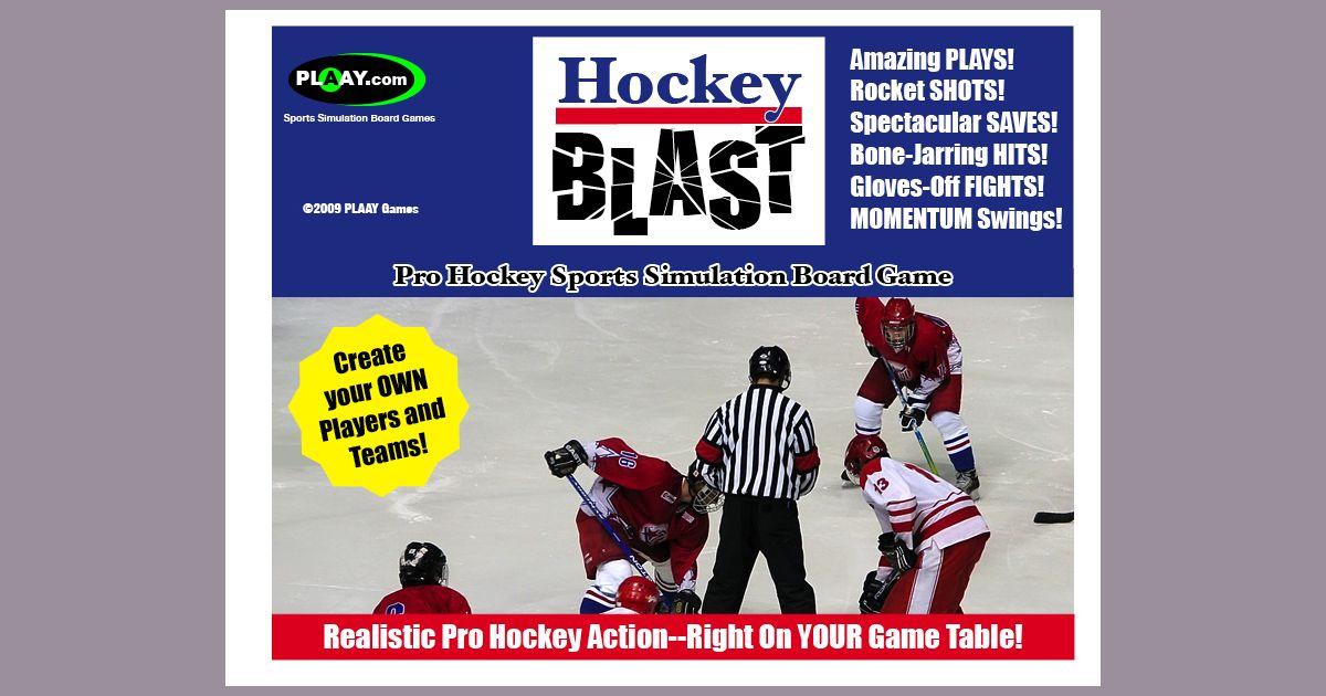 Hockey Blast Pro Hockey Game | Board Game | BoardGameGeek