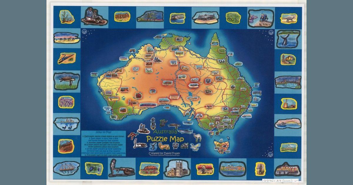 Map Of Australia Video.Australia Puzzle Map Board Game Boardgamegeek
